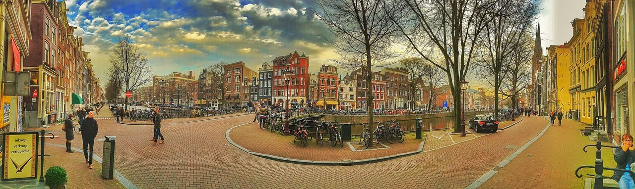 Amsterdam Amsterdamcity Architecture Beautiful Building Exterior City City City Life City Street Citylife Cloud - Sky Holland Iamamsterdam Netherlands Niederlande Panoramic Residential Building Residential Structure Road Sky Street