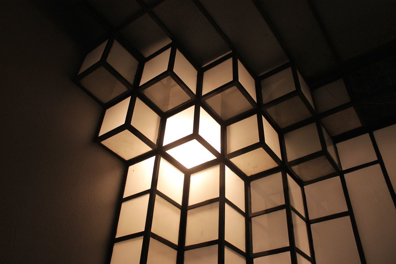 window, indoors, shape, architecture, pattern, backgrounds, full frame, no people, geometry, day