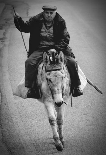 men on donkeys - part 1 Donkey B&W Portrait Old Man Traditional Transportation Street Photography Streetphoto_bw Black And White Portrait Donkeylove Nikon Streetphotography