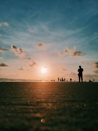 Sunset on parangkusumo beach