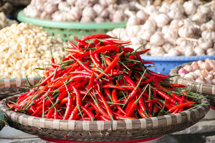 Vietnam Chili Pepper Chili  Red Red Color Backgrounds Background Background Texture Background Photography High Angle View In A Row Spicy Spices Spice Spices Of The World Pepper Red Chili Pepper Large Group Of Objects Freshness Still Life Food Vegetable No People Market Wellbeing