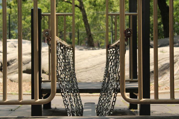 Metal gate at park