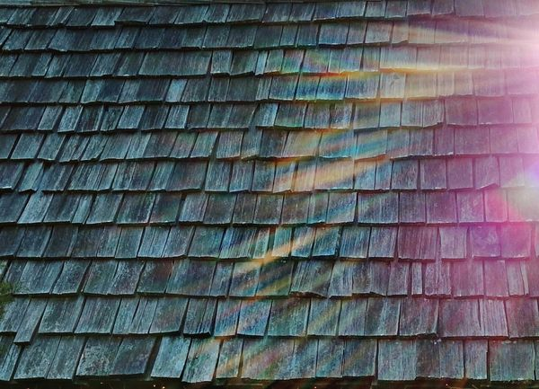 Beautifully Organized Shingles Wood - Material Old Buildings Roof Pattern No People Textured  Architecture Built Structure Building Exterior Day Nature Close-up Repetition Backgrounds Full Frame Outdoors