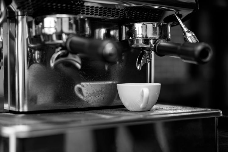 Close-up of coffee in cafe
