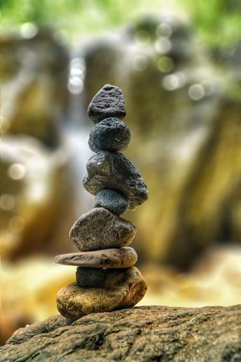 My cairn Cairn EyeEm Selects Balance Stack Rock - Object Focus On Foreground Day Pebble Close-up Nature Outdoors