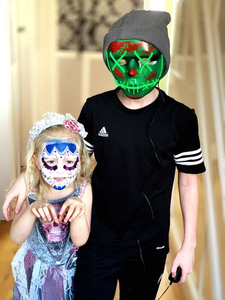Disguise Mask Mask - Disguise Front View Costume Two People Men Real People Celebration Togetherness Obscured Face