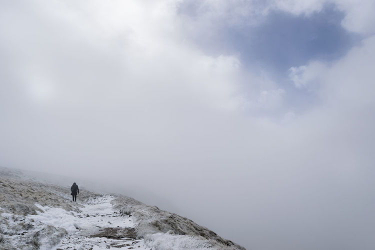 Pen Y Ghent Adventure Beauty In Nature Cloud - Sky Cold Temperature Fog Hiking Mountain Nature Outdoors Scenics Sky Snow Tranquility Winter Yorkshire Dales