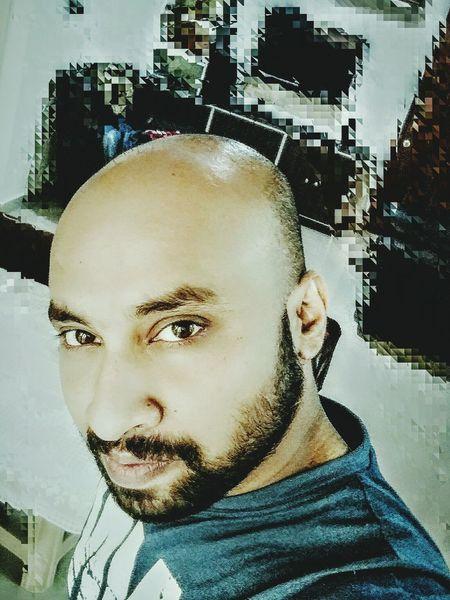 Looking At Camera Beard Baldhead
