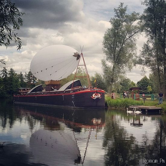 Water Reflection Cloud - Sky Ferris Wheel Outdoors Nature Camon Amienscity