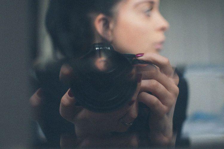 Moody Light In The Darkness Self Portrait Nikon