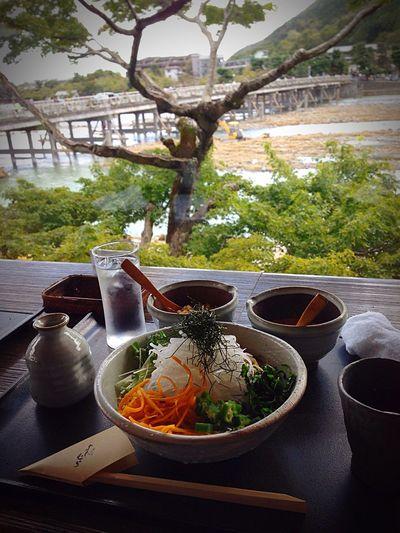 Kyoto Japan Soba Buckwheat Arashiyama Togetukyou Summer Yoshimura 京都 日本 蕎麦 渡月橋 嵐山 よしむら 夏