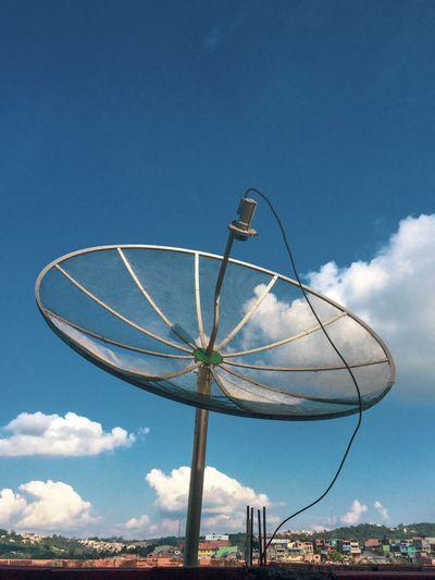 Satellite against sky