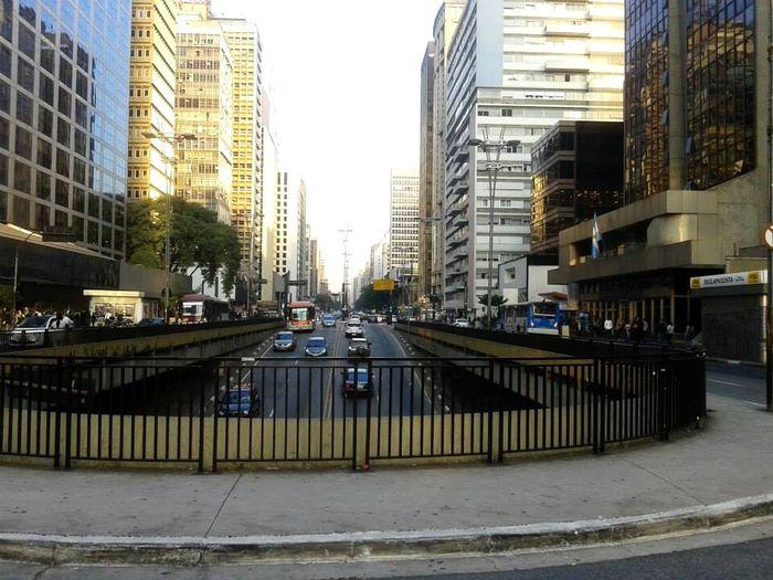 Avenida Paulista Beleza Saopaulo Edificio Carros Ciudad City Streets
