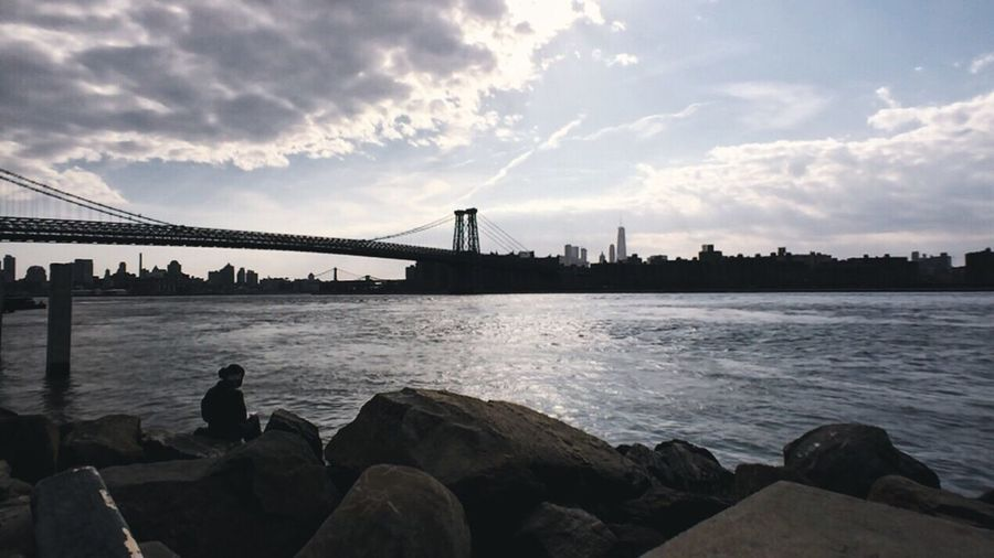 New York City NYC Photography New York NYC Williamsburg Brooklyn Bridges Silhouettes Waterfront IPhoneography Mobilephotography