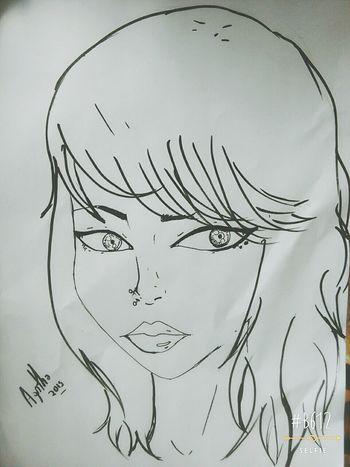 Drawing Draw Girl Beautiful Sweet Anime Drawing