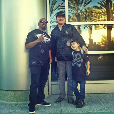 Rapper Sendog of Cypress Hill at Namm Show 2015 in Anaheim California CA Sendog Cypresshill Namm2015 AnaheimConventionCenter Music Namm Celebrity HipHop BackstageGabe