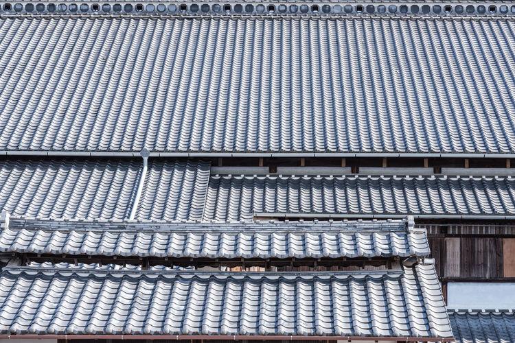 Full frame shot of roof of japanese building