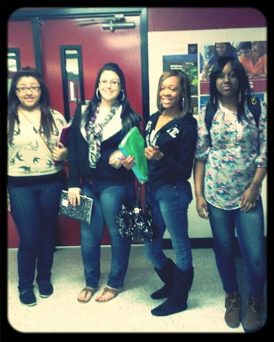 me & my bitches this morning. <3