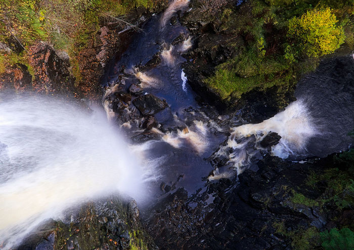 150ft drop: looking straight down the waterfall at Plodda Falls, river gushing in from the top. Beauty In Nature Highlands Motion Nature Nature Nature Photography Nature_collection No People Outdoors Plodda Power In Nature Scotland Scottish Highlands Splashing Water Waterfall Waterfalls