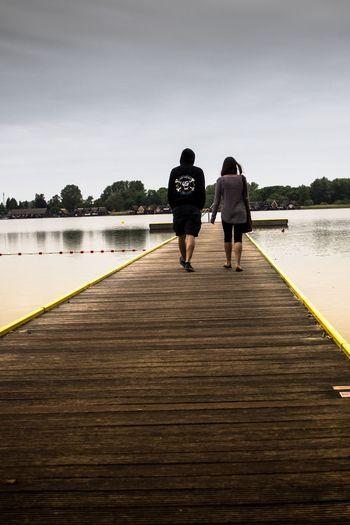 See Lake Steg Holz Menschen Wasser Wolken Press For Progress