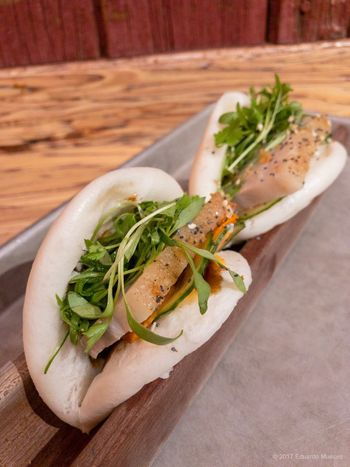 Pork Belly Bao Appetizer Bao Vietnamese Food And Drink Indoors  Ready-to-eat Food Freshness Still Life Close-up Table Serving Size Stuffed No People Meat Sandwich Healthy Eating