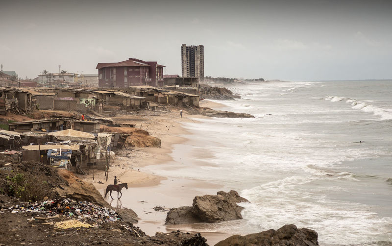 Accra local beach
