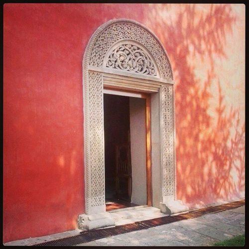 Zica Monaster Serbia Architecture door red color