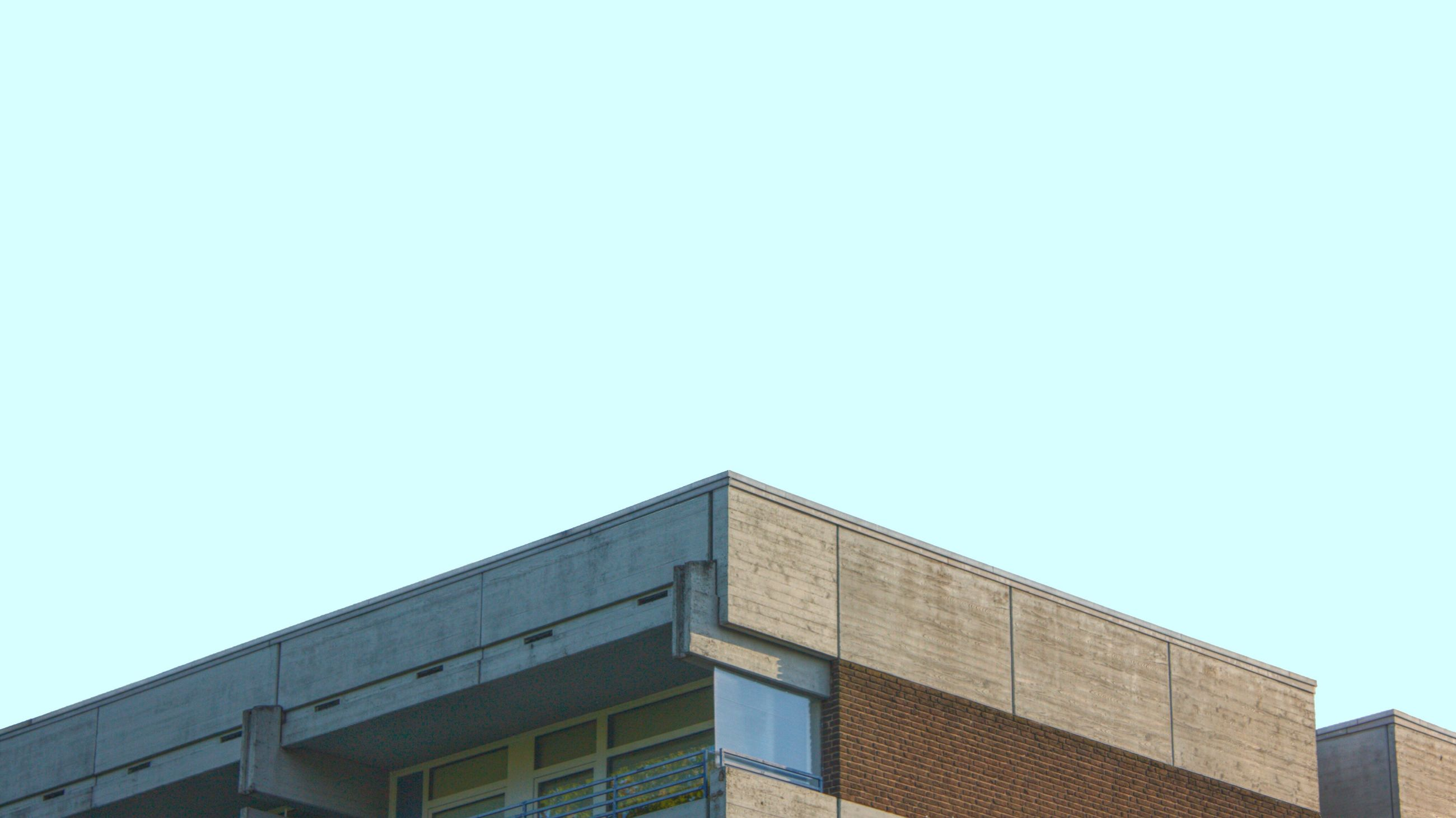architecture, copy space, clear sky, built structure, building exterior, no people, low angle view, outdoors, day, blue sky
