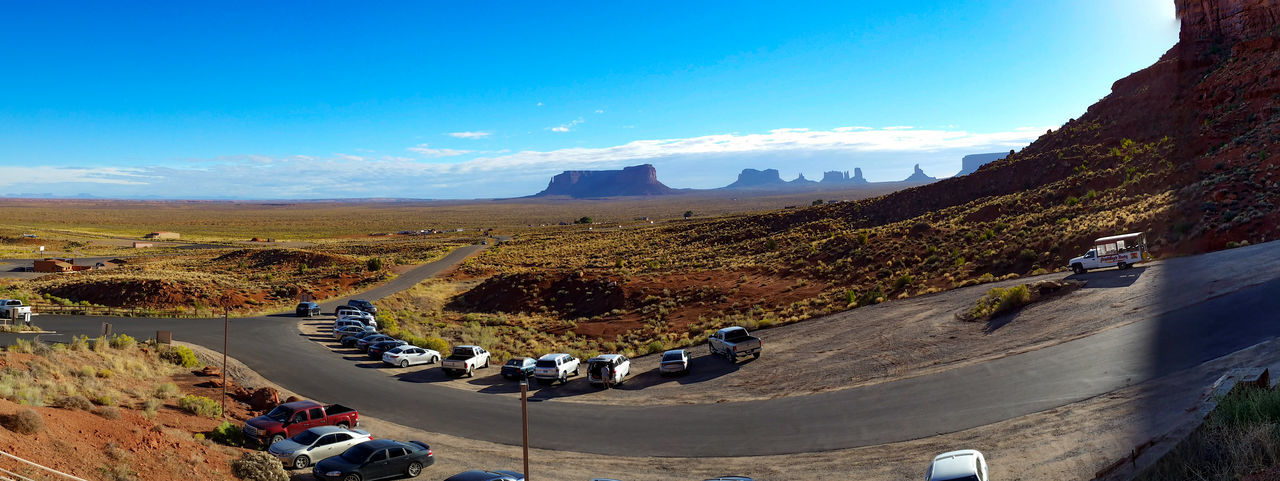 Monument Valley Rock Red Rock Panorama Desert USA Travel Destinations Nature