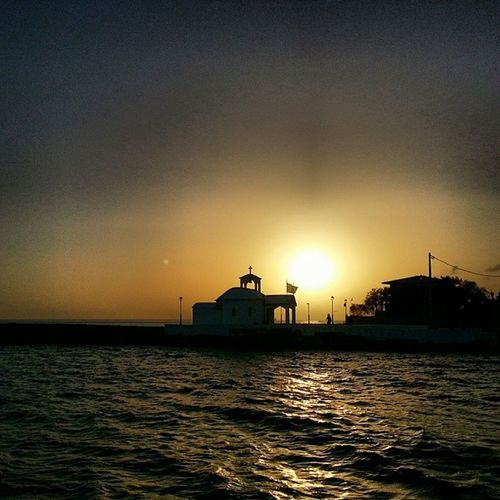 Beautiful Pahi Megara Greek sunset