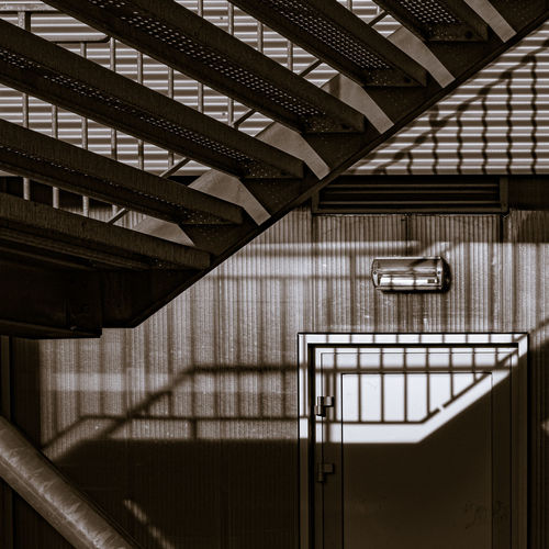 Low angle view of staircase outside building