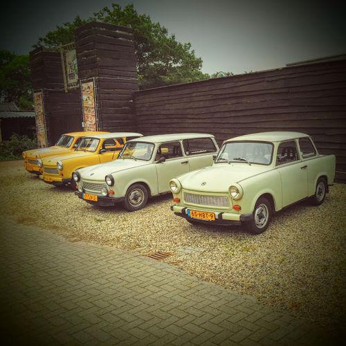 Car Communism East Germany Four Cars German Germany Old Car Trabant Yellow Car