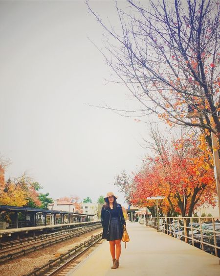 Real People Fall Autumn Autumn🍁🍁🍁 New York Bronxville Train Station Humans Of New York Human Thanksgiving This Week On Eyeem