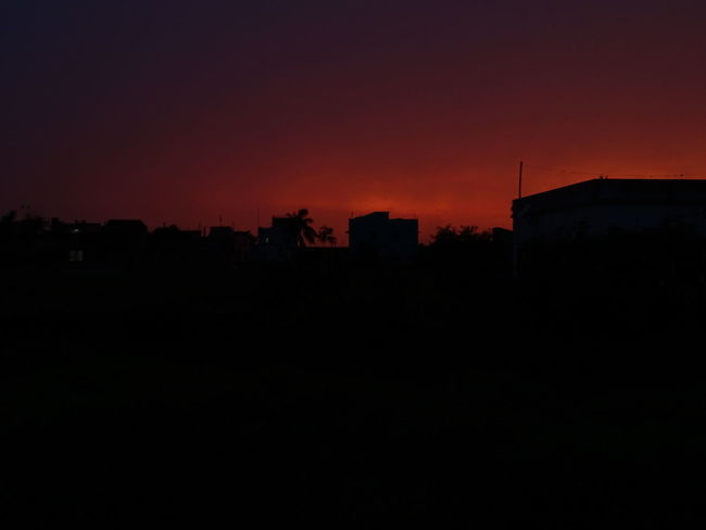 Sunset No People Astronomy Sky Cityscape Urban Skyline Outdoors EyeEmNewHere The Great Outdoors - 2017 EyeEm Awards Silhouette Orange Color