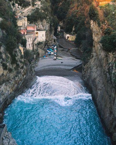 Deep blue Furore Costiera Costiera Amalfitana Italia Italy Fiord Sea