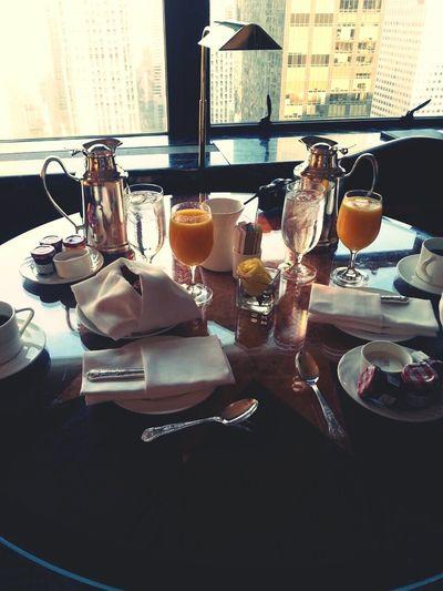 Goodmorning ThePalace Hotel NYC Breakfast Luxury Luxuryhotel Orangejuice