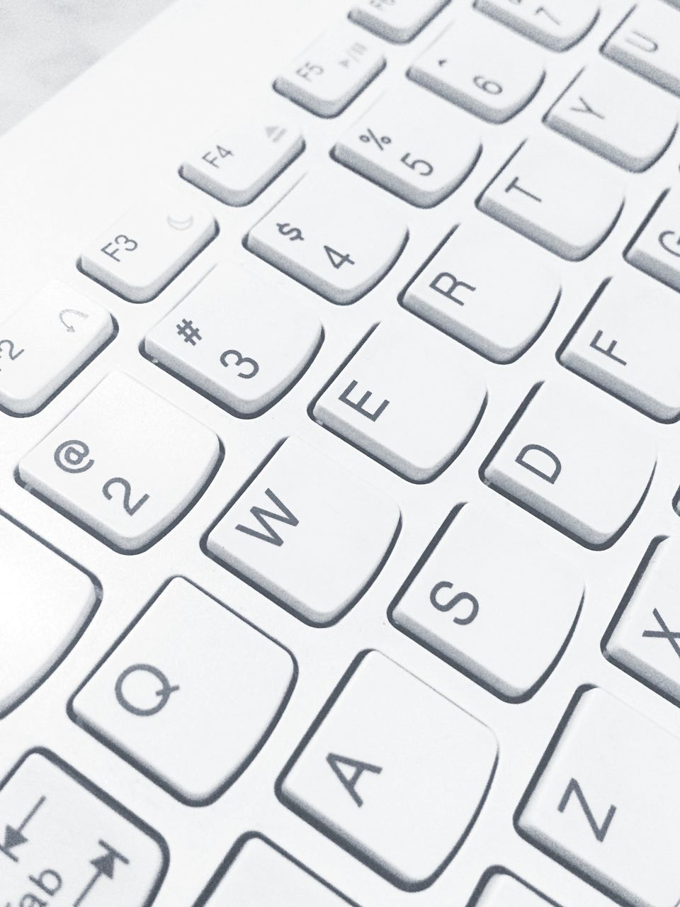 computer, keyboard, computer keyboard, technology, computer part, communication, letter, computer key, wireless technology, connection, computer equipment, laptop, close-up, no people, text, white color, internet, indoors, alphabet, full frame, keypad