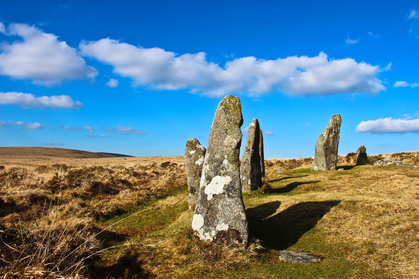 ScoreHill #1, Dartmoor Ancient History Cloud - Sky Dartmoor Day Landscape Landscape #Nature #photography Outdoors Scenics Scorehill Sky Standing Stones