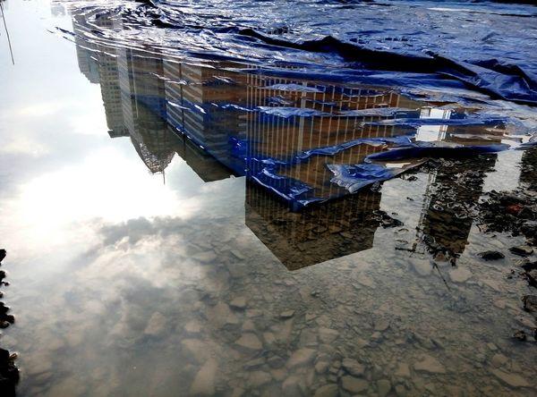 Blue sheet canvas Reflection Civilengineeringlife Taking Photos Meizum2