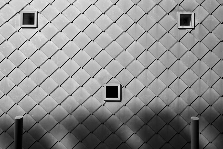 Bnwsimplicity Architectural Detail Architecture Architecture_bw Architecture_collection Backgrounds Building Exterior Built Structure Cityexplorer Design Full Frame Geometric Shape Minimal Minimalism Minimalist Minimalistic Minimalobsession Pattern Pattern, Texture, Shape And Form Patterns & Textures Repetition Simplicity Urban Geometry Urbanphotography The Architect - 2016 EyeEm Awards Wall - Building Feature