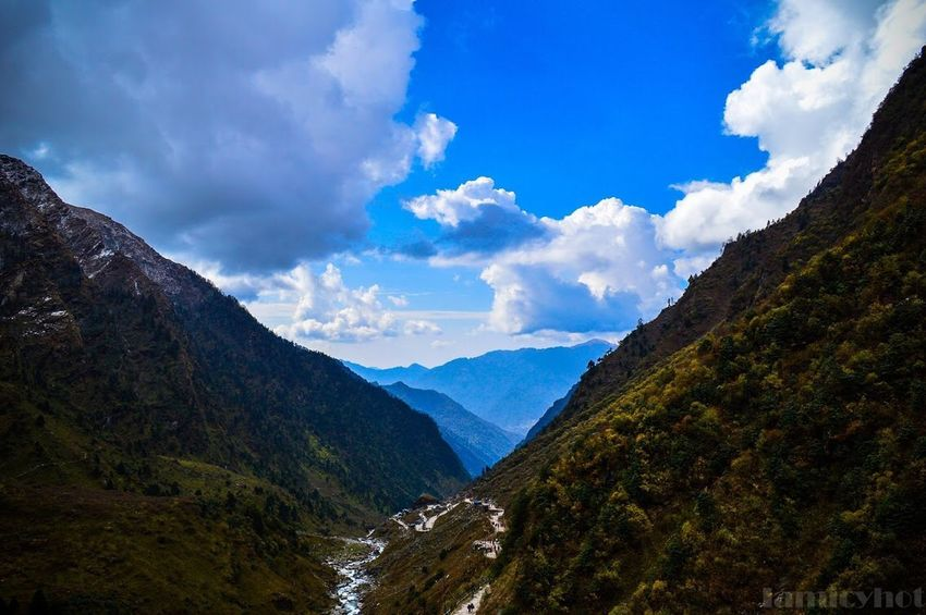 Staircase to heaven Mountain Uttarakhand Kedarnath Sky Mountain Beauty In Nature Cloud - Sky Nature Tranquility Shades Of Winter Tranquil Scene Mountain Range No People Outdoors