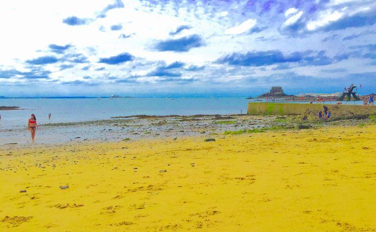 A Beautiful Day @ Saintmalo Plage Bluesky Ciel Bleu Sea Mer Saintmalo