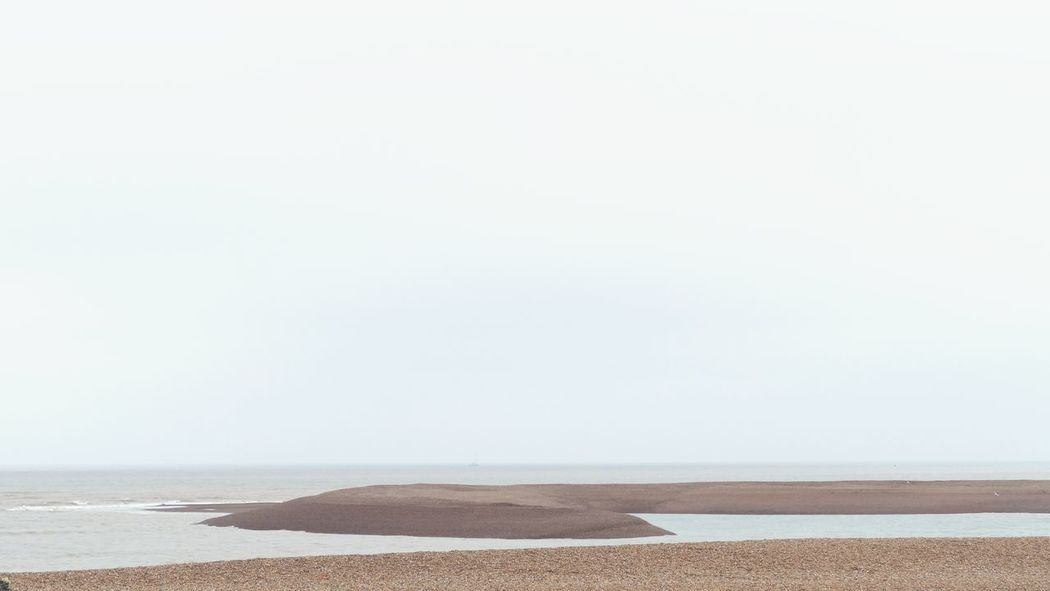 ' Shingle Street II' Seaside Shore Stones Shingle Endless Explore Beach Sea Landscape Horizon Curves -- B