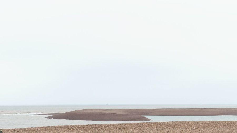 ' Shingle Street II' Seaside Shore Stones Shingle Endless Explore Beach Sea Landscape Horizon Curves -- B