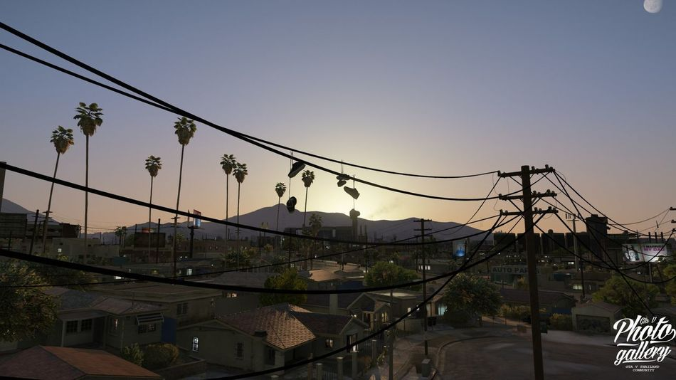 GTA V / Grove Street Families / ESK . GTA V Outdoors Clear Sky Hanging No People Sky first eyeem photo