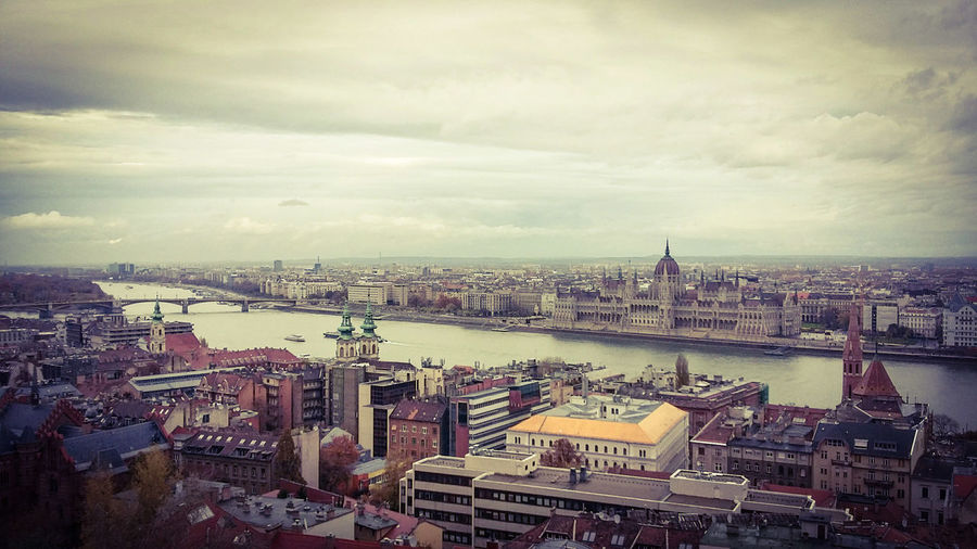 Cityscape City Architecture Travel Destinations Urban Skyline Cloud - Sky Aerial View Citytrip Tourism Autumn Colors Rainy Days Travel Urbanphotography Stadtansichten Stadt Von Oben überblick Politics And Government Budapest, Hungary