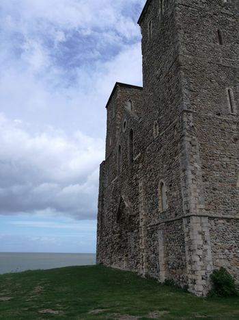 Architecture Cloud - Sky Built Structure Day Sea No People Reculver Kent. England Anglo-saxon Medieval Architecture Medieval Church Sky English Channel