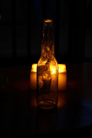 Bottle Light And Shadow Light Lowlight Corona Beer Empty Candlelight Night Lowexposure Cheers