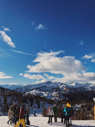 MDC Mountain Snow Skiing Italy White Skow Group Of People Real People Sky Crowd Cloud - Sky Snow Leisure Activity Lifestyles Cold Temperature Mountain Outdoors Nature Women Mountain Range Large Group Of People Men Winter Beauty In Nature Ski Resort  Day