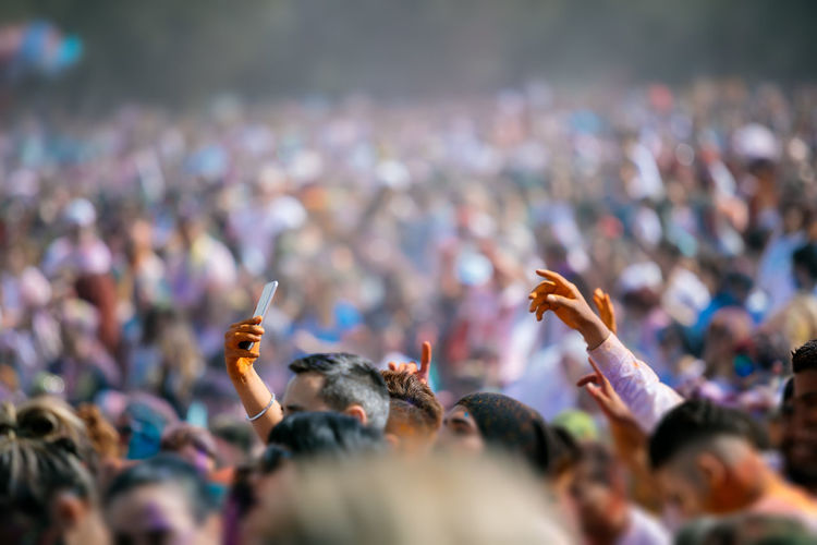 Crowd during holi